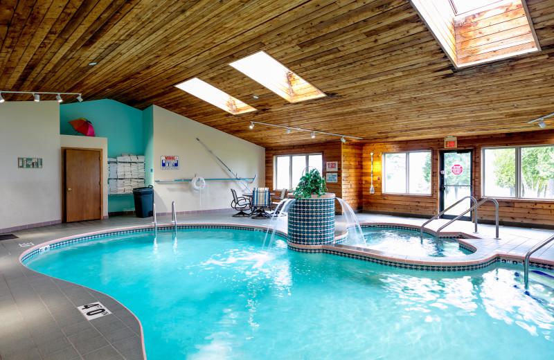 Indoor pool at Glidden Lodge Beach Resort.