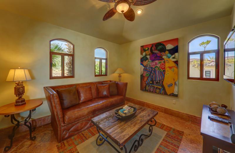 Guest living room at Casa Mar y Estrella.