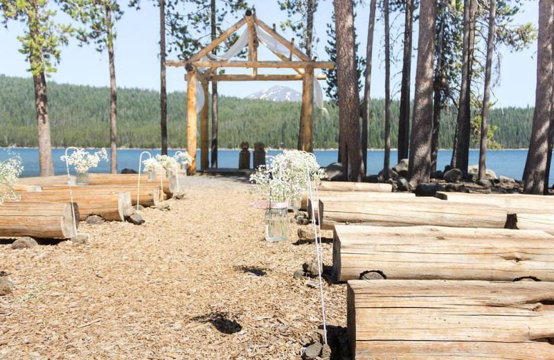 Wedding at Elk Lake Resort.