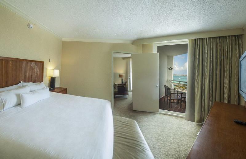 Guest room at Riu Palace Antillas Hotel.