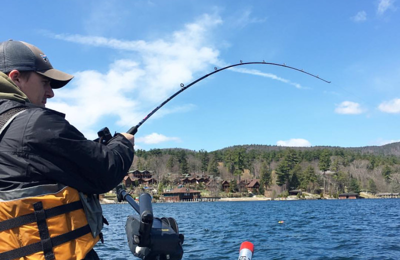 Fishing at The Lodges at Cresthaven on Lake George.