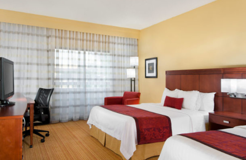 Guest room at Courtyard by Marriott Kansas City South.