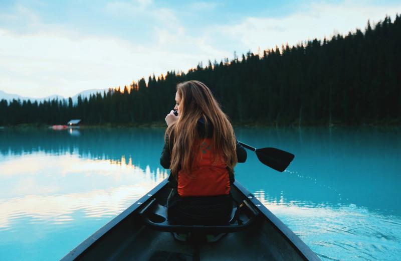 Kayaking at Mission Springs Resort.