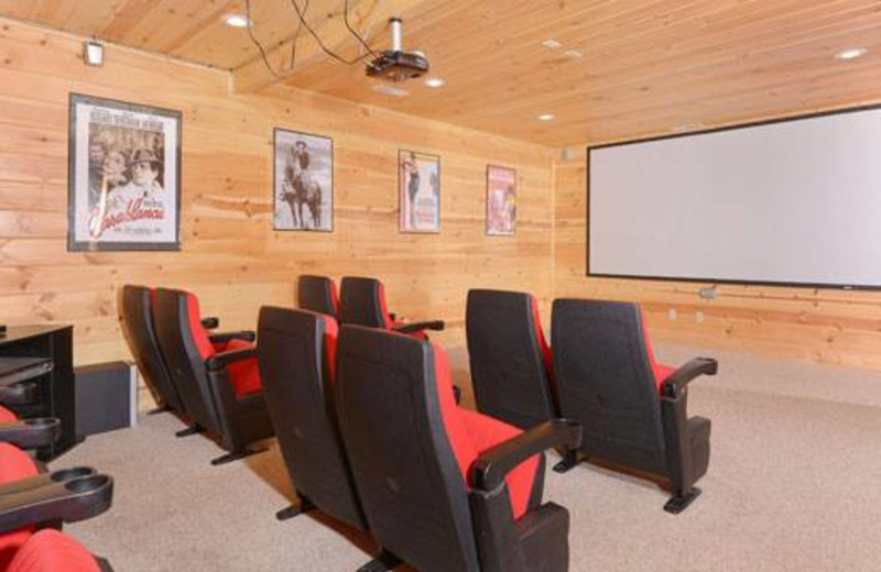 Cabin private theater at Cabins For You.