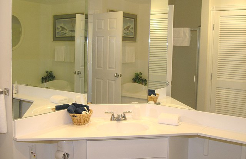 Guest bathroom at The Beach Condominiums Hotel-Resort.