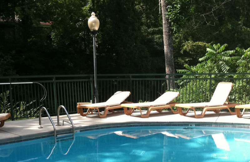 Outdoor pool at Old Creek Lodge.
