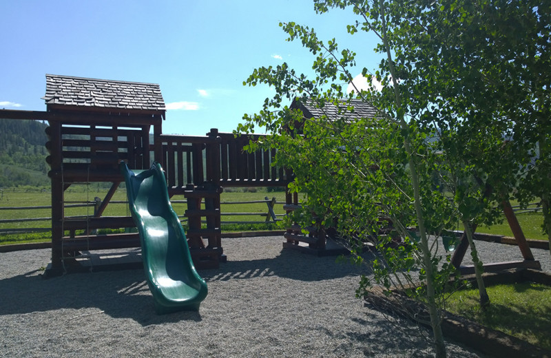 Kid's playground at Goosewing Ranch.