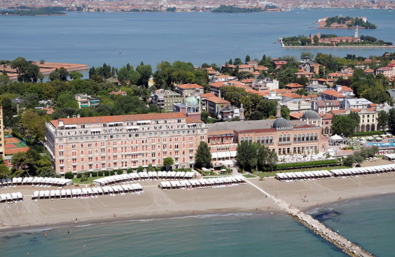 Aerial view of Westin Excelsior Venice Lido.