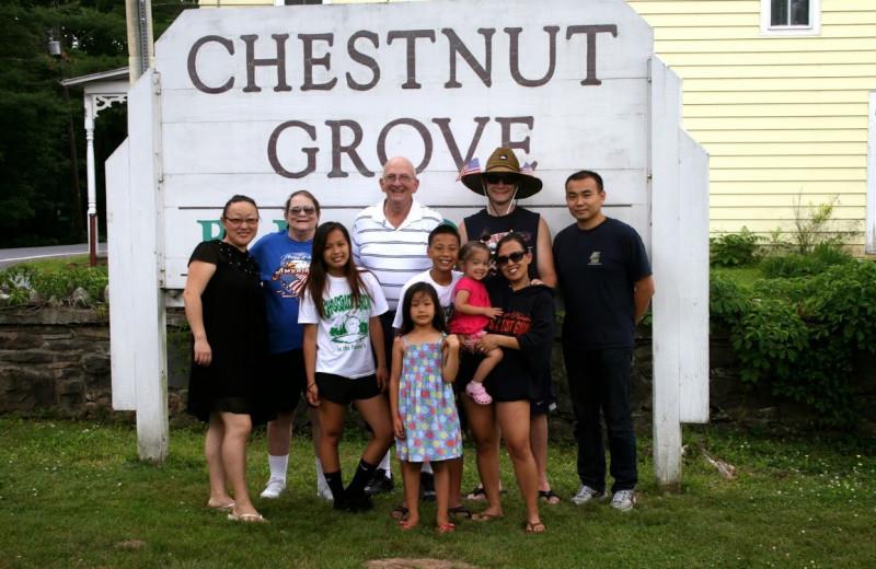 Family at Chestnut Grove Resort.