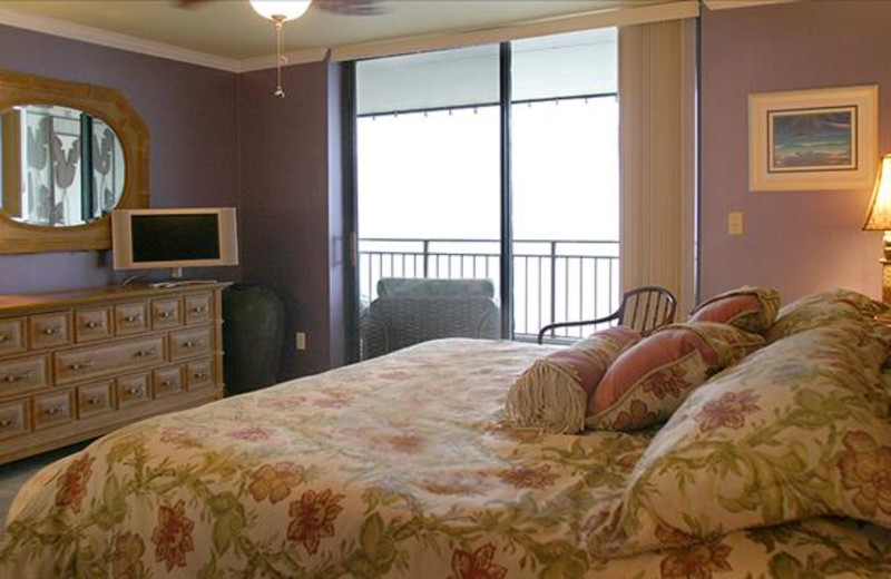 Vacation rental bedroom at Rent Key West Vacations.