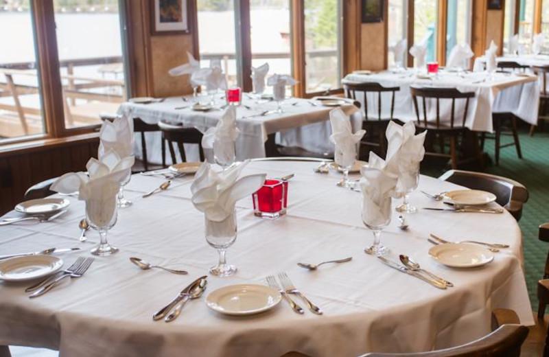 Dining room at Big Moose Inn.