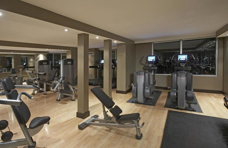 Fitness room at Hyatt Regency Toronto.