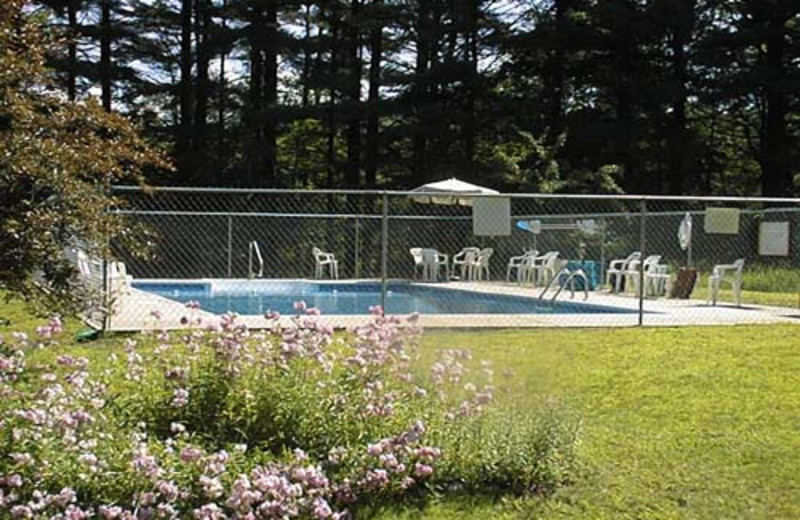 Outdoor Pool at the Twin Pine Lodge