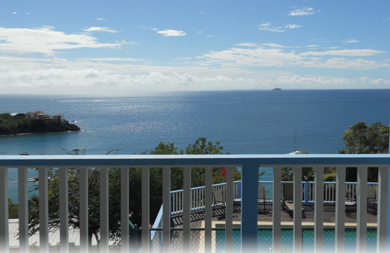 Rental balcony view at Paradise Cove Resort.
