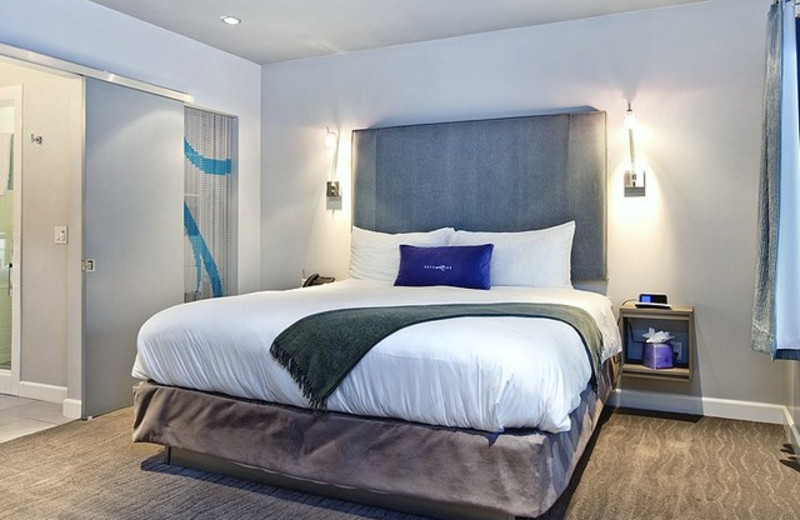 Guest room at Hotel Seven4One.
