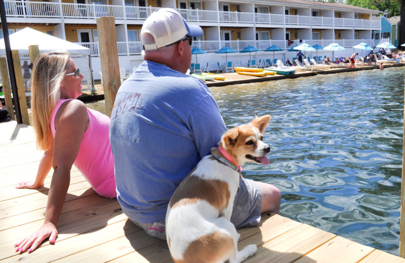 Pets welcome at  Naswa Resort.