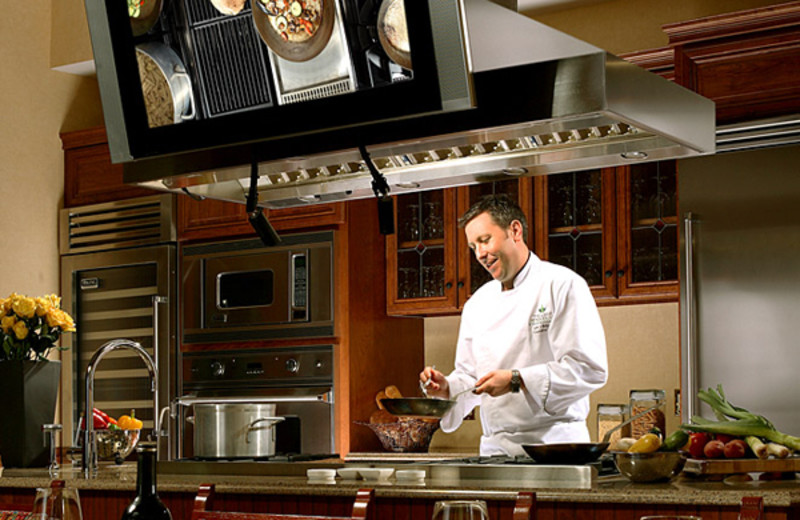 Chef demonstration kitchen at The Lodge at Woodloch.