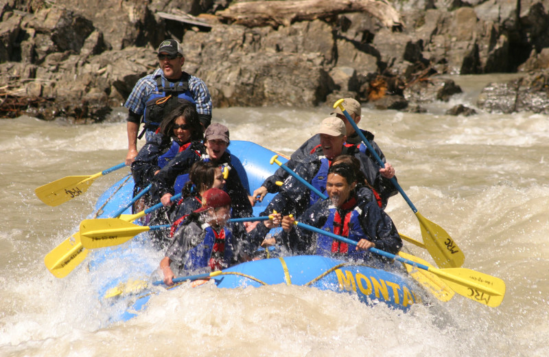 Rafting at Good Medicine Lodge.