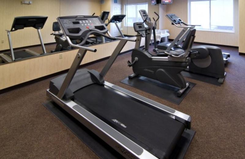 Fitness room at Holiday Inn Minneapolis.