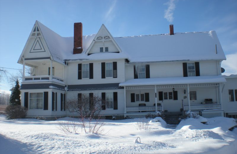 Winter at The Fox and The Grapes Bed and Breakfast is warm, cozy and romantic.  Enjoy watching the snow next to the  woodburning fireplace.