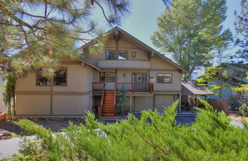 Rental exterior at Big Bear Vacations.