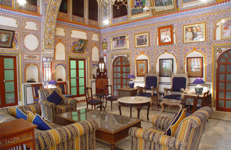 Lobby at Castle Mandawa.