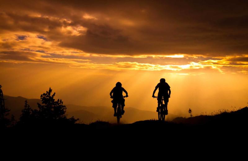 Biking at Mountain Oasis Cabin Rentals.