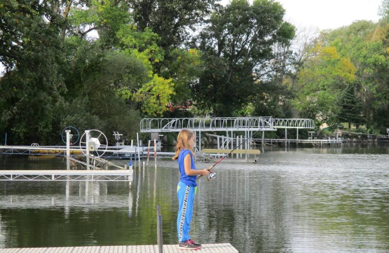 Fishing at Barrett Lake Resort.
