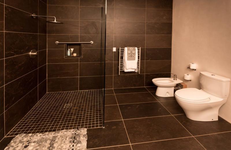 Bathroom at Adobe Zen House.