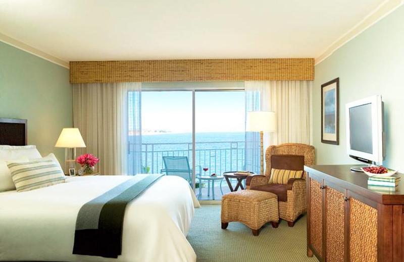 Guest room at Loews Coronado Bay Resort.