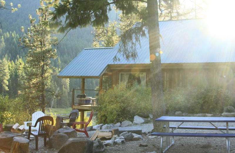 Exterior view of Clark Fork River Lodge.