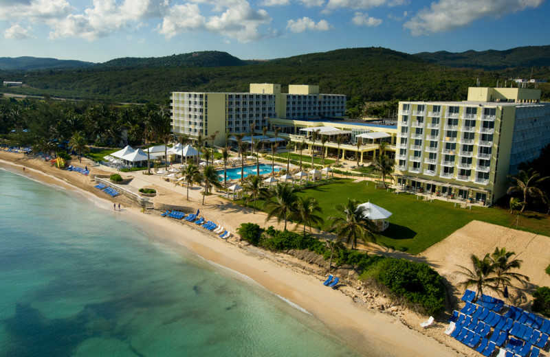 Exterior view of Hilton Rose Hall Resort & Spa.