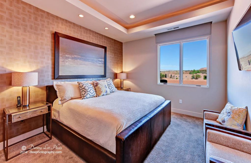 Guest bedroom at The Inn at Entrada.