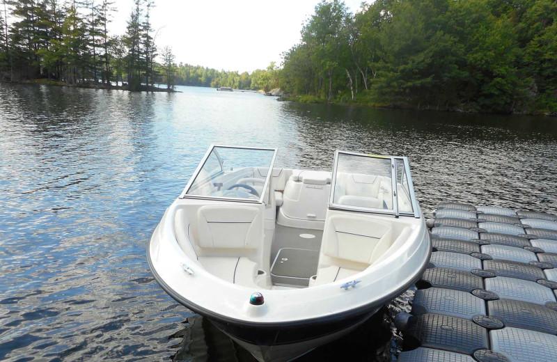 Boating at Bobs Lake Cottages.