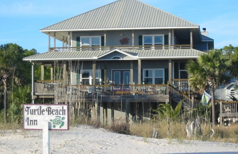 Exterior view of Turtle Beach Inn.
