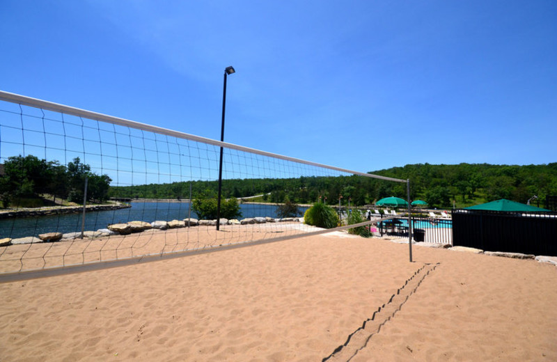 Volleyball court at Stonebridge Resort.