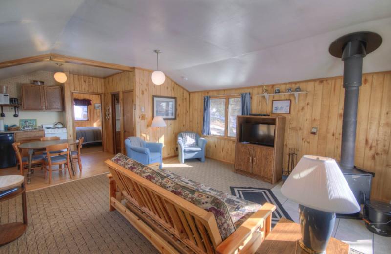 Cabin interior at Cascade Lodge.