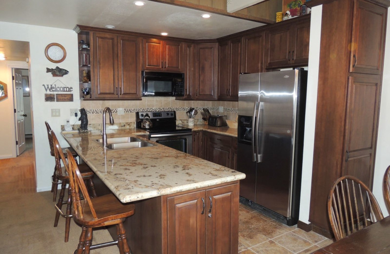 Rental kitchen at Seasons 4 Condominium Rentals.