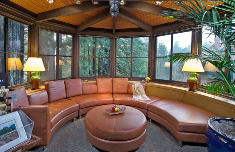 Sitting area at Applewood Inn, Restaurant and Spa.