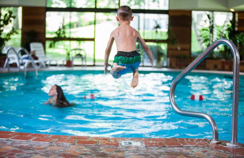Swimming at Evergreen Resort.