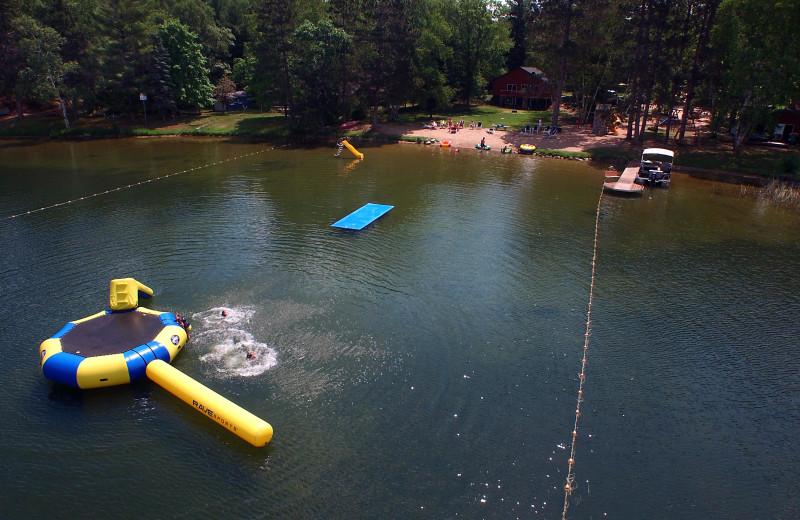 Aerial view of Sandy Pines Resort.