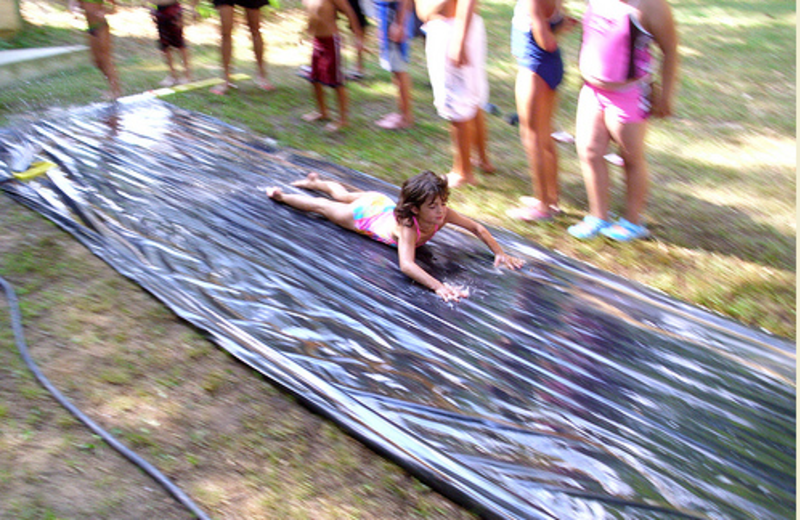 Slip and Slide at MarVal Resort.