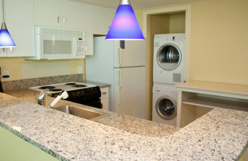 Guest kitchen and laundry at Avista Resort.