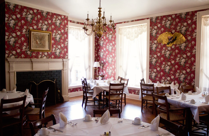 Dining room at The Golden Eagle Inn.