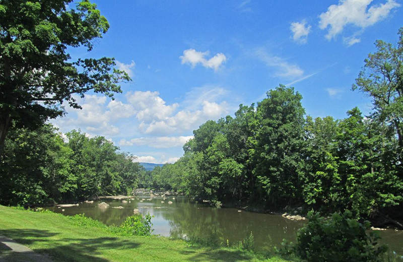 River view at Yogi Bear's Jellystone Park Gardiner.