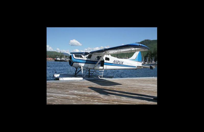 Plane at Log Cabin Resort & RV Park.