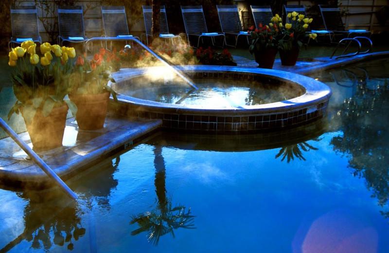 Hot tub at Roman Spa Hot Springs Resort.