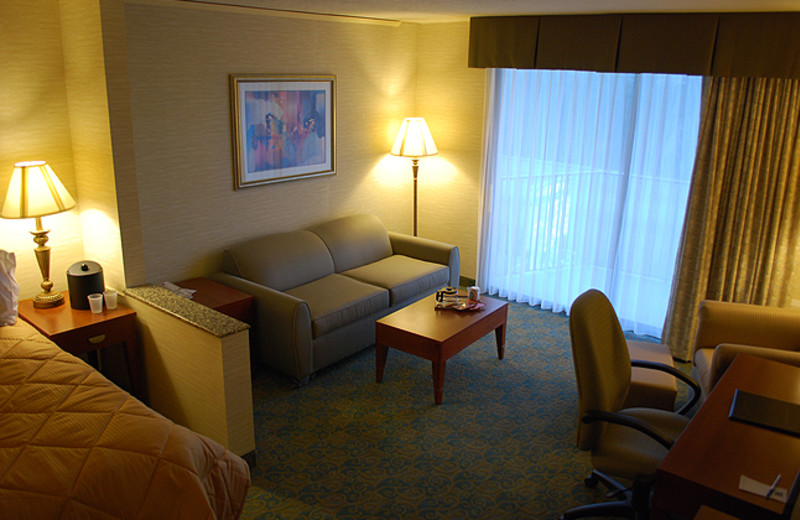Guest room at Bremerton Inn & Suites.