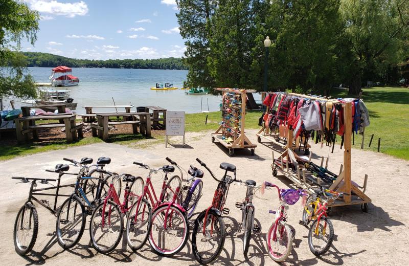 Bikes at The Osthoff Resort.