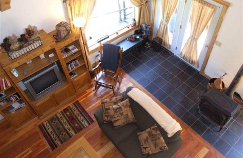 Interior of Clark Fork River Lodge.